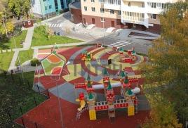 Детская площадка с резиновым покрытием ТАКОГО размера