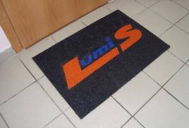 Резиновый коврик с логотипом компании